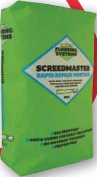 & Smoothing Compounds SCREEDMASTER RAPID REPAIR MORTAR rAPId curING PAtchING coMPouNd For FILLING hoLES ANd crAckS