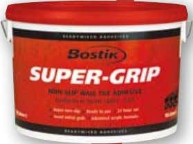 Ready Mixed Adhesives BOSTIK SUPER-GRIP NoN-SLIP WALL tILE AdhESIvE CONFORMS TO BS EN 12004 : D1TE