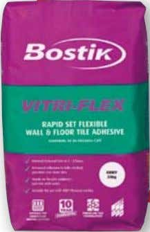 and frost resistant • thin & thick bed up to 12 mm Bostik Vitri-Flex is a