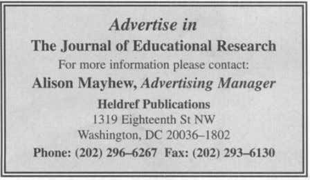 The Journal of Educational Research, 93(6),356-365. The Journal of Educational Research 32,000,000 Americans