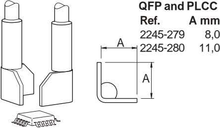 QFP and PLCC Ref. A mm 2245-279 8,0 A 2245-280 11,0 A