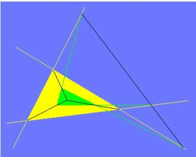 Figure 2 Two triangles are shown, one yellow and one green. They are such that