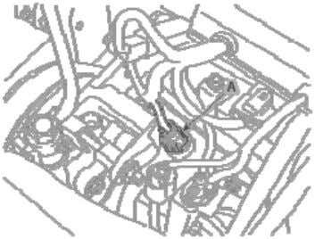 Disconnect the fuel pressure regulator valve connector (A). 3. Remove the high pressure fuel pipe (A)
