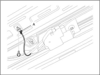 5. Remove the roof rack cover (A), roof rack (B), roof molding (C). 6. Open