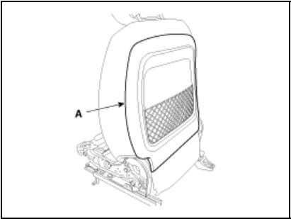 2. Remove the blower fan (A) after removing the screws from the seat back. 3.