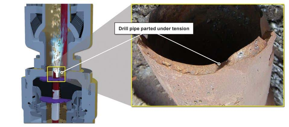 Drill pipe parted under tension