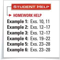 STUDENT HELP HOMEWORK HELP Example 1: Exs. 10, 11 Example 2: Exs. 12–17 Example 3: