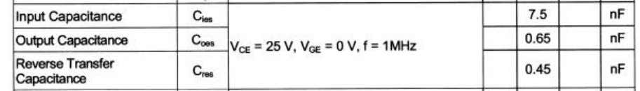 times higher than that which is specified in the data sheet. Picture 1) Datasheet values for