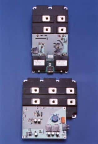 to be advantageous for high power IGBT single-switches. Picture 9: Driver board directly mounted on top