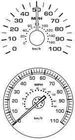 the current vehicle speed. Standard instrument cluster Harley-Davidson instrument clusters Engine coolant