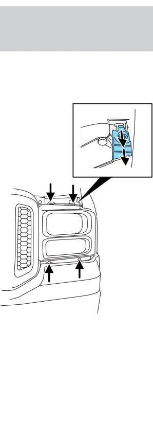 Lights Replacing headlamp bulbs (sealed beam) 1. the hood. 2. Remove the four screws from