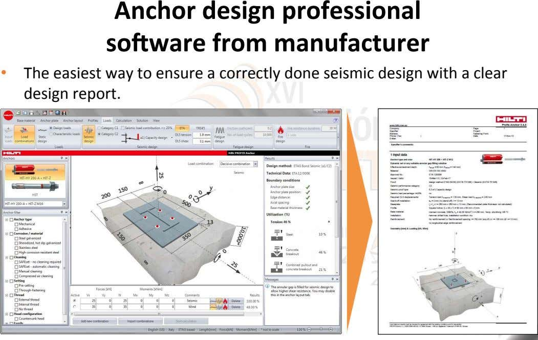 Anchor design professional sogware from manufacturer •   The easiest way to ensure a correctly