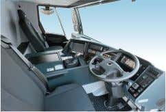 and safe driving, such as automatic mechanical transmission. Two-person, full-width cabin The full-sized cabin