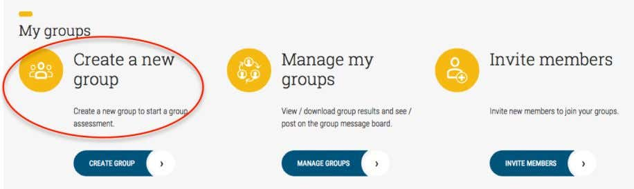 should click on 'Create a new group', as shown below. Please enter a unique group name