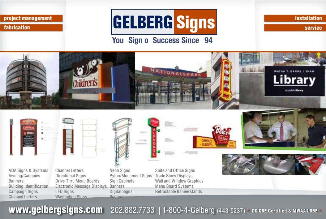 project management installation fabrication service ADA Signs & Systems Awning/Canopies Banners Building Identification Campaign Signs Channel