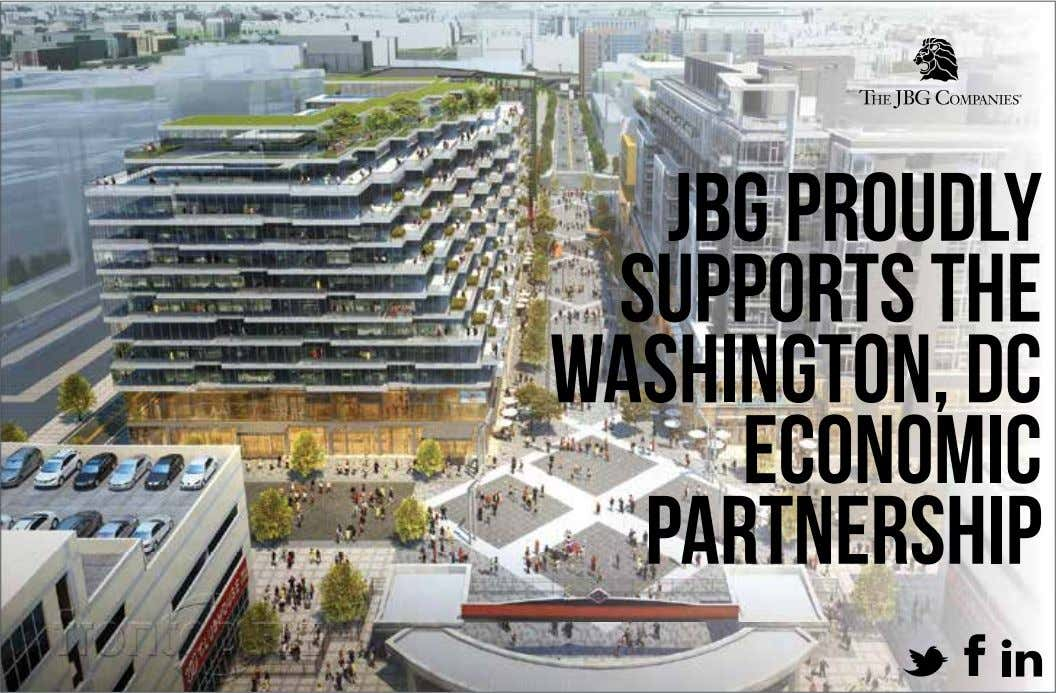 JBG PROUDLY SUPPORTS THE WASHINGTON, DC ECONOMIC PARTNERSHIP