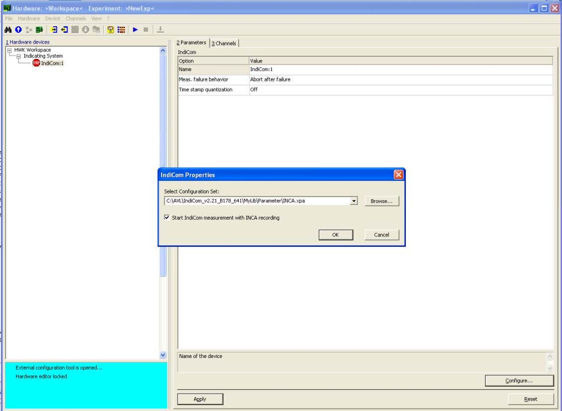 INCA INTERFACE – LOAD PARAMETERFILE Gernot Hacker, October 2009 17