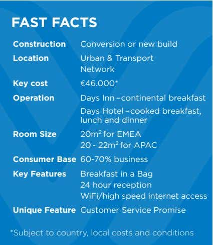 FAST FACTS Construction Conversion or new build Location Urban & Transport Network Key cost €