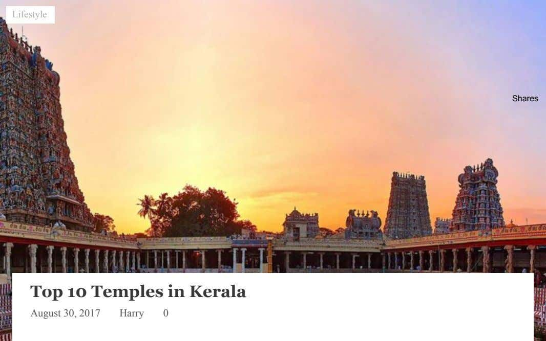 Lifestyle Shares Top 10 Temples in Kerala August 30, 2017 Harry 0