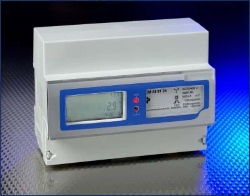 CeweMeter Energy meters CeweMeters constitute a range of electronic energy meters for mounting on DIN