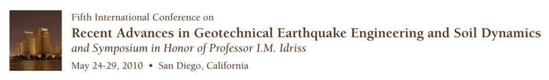 Parametric Investigation of Lateral Sp reading in Free-Face Ground Formations Alexandros Valsamis Dr. Civil Engineer,