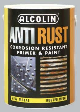 to prevent surfaces from rusting Features & Benefits ∑ Superior anti-corrosion pigments – prevents flash