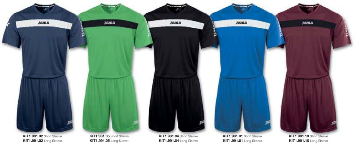 KIT1.981.02 Short Sleeve KIT1.991.02 Long Sleeve KIT1.981.05 Short Sleeve KIT1.991.05 Long Sleeve KIT1.981.04 Short