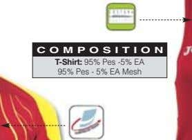 COMPOSITION T-Shirt: 95% Pes -5% EA 95% Pes - 5% EA Mesh