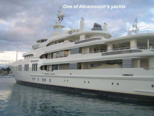 One of Abramovich's yachts