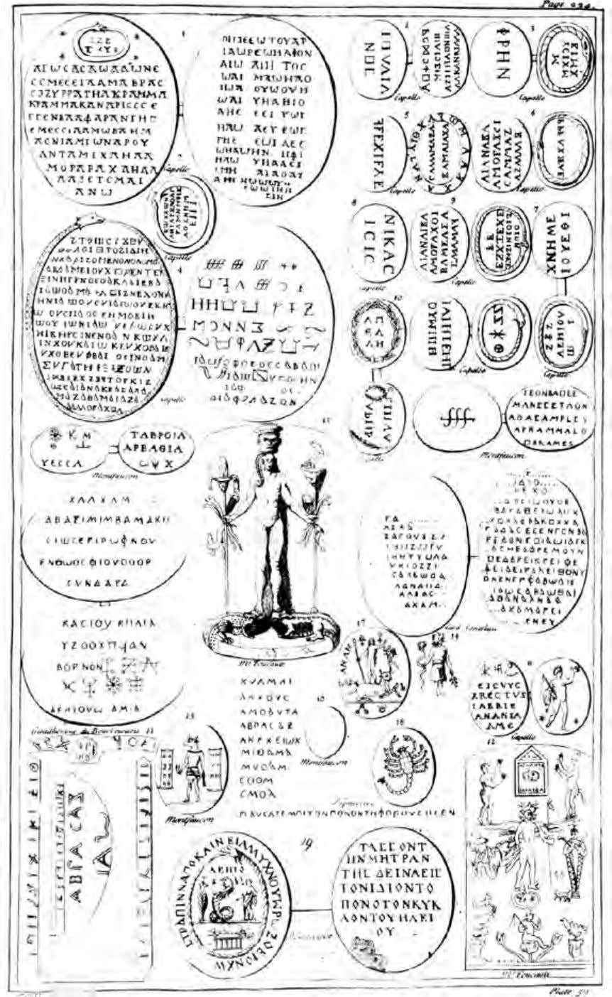 The Symbolism of Gnostic Gems Fifth Gnostic Plate — From Antiquity Explained 169