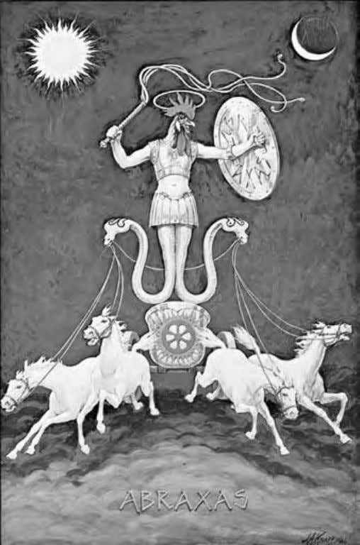 Abraxas, A Gnostic Pantheos The name Abraxas , coined by Basilides, the Egyptian Gnostic, is