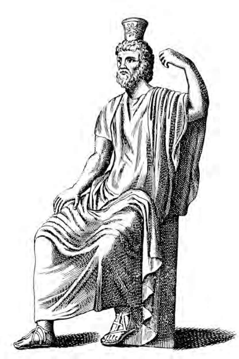 The Wisdom of the Knowing Ones Statue of Serapis, patron deity of Alexandria From an engraving
