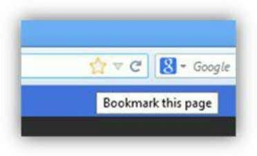 """+"" tab to open a new tab. Figure 123: Favorites Menu Figure 124: Bookmark Page Icon"