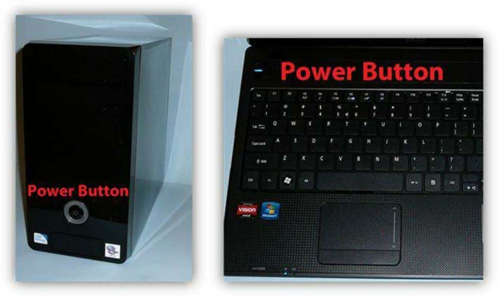 to power on your system if it is not already powered on. Figure 3: Desktop &