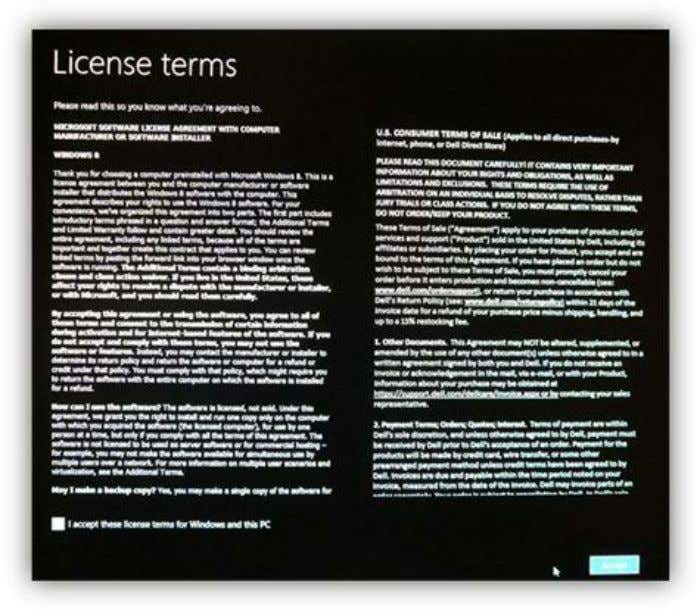 """I Accept"" checkbox, then the Accept button to proceed. Figure 7: End User License Agreement You"