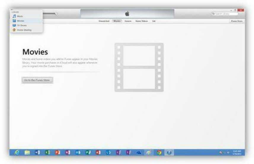 Figure 245: iTunes Application You can purchase individual songs, albums, movies, and TV shows in