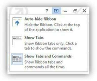 the Ribbon bar until you click on one of the tab names. Figure 268: Ribbon UI