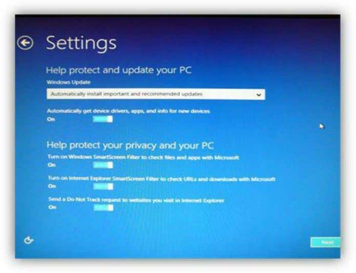the options you wish according to your own preferences. Figure 10: Settings Screen – Updates &