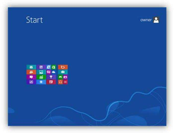 the zoom button in the lower right corner of the window. Figure 22: Start Screen Zoomed