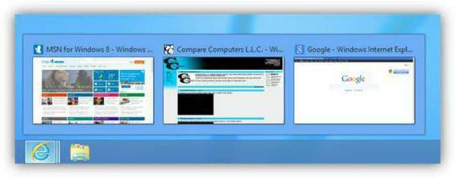 Figure 41: Live Preview Thumbnail The desktop area is the area on top of your