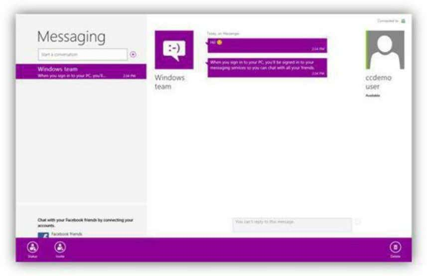 Figure 82: Messaging App Commands You will be prompted to log into the website with