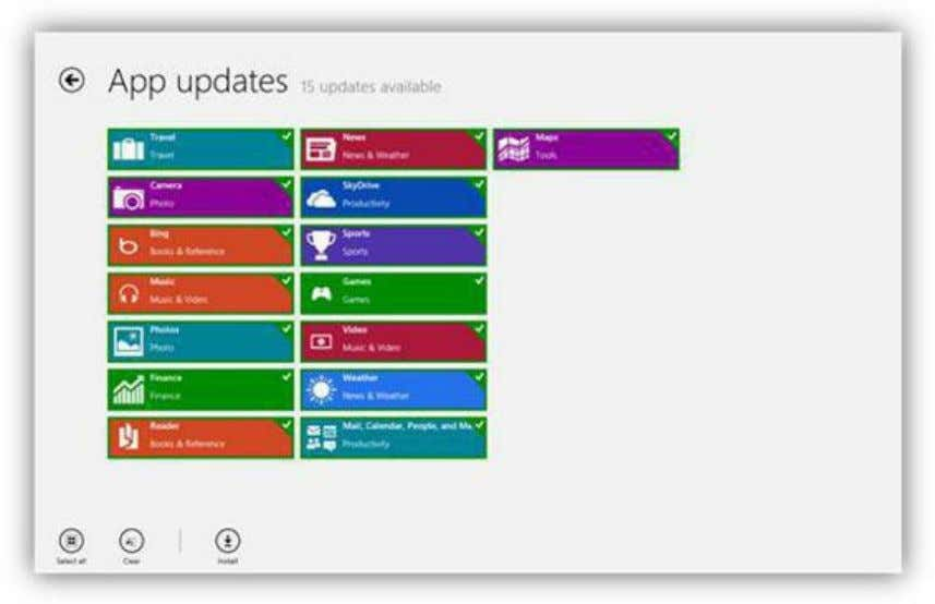 to view the available updates. To begin the update process, click the Install button. Figure 108: