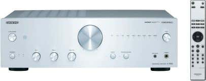 BLACK A-9050 Integrated Stereo Amplifier SILVER BLACK • 75 W/Ch (8 Ω, 1 kHz, 0.08%, 2