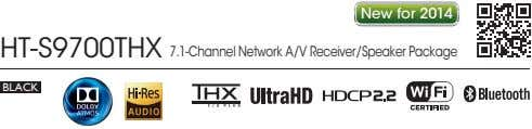 New for 2014 HT-S9700THX 7.1-Channel Network A/V Receiver/Speaker Package BLACK