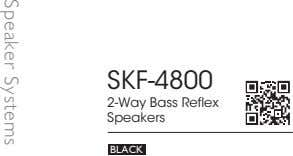 SKF-4800 2-Way Bass Reflex Speakers BLACK Speaker Systems