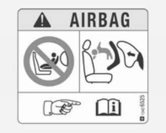 mit Airbag- Systeme Warnung gemäß ECE R94.02: EN: NEVER use a rearward-facing child restraint on a