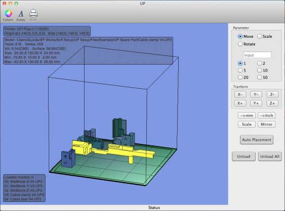 3. Operation (Mac version) TIP: You can open several models and print them all at the