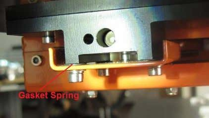 are 3 screw and 3 spring washers under the platform heater. Loosen a screw and the