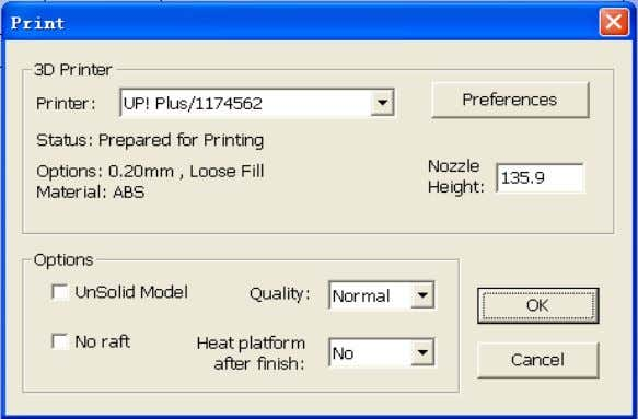 3. Operation (Windows version) Print Options: (Mac version) Speed: Fine, Normal or Fast. This simply determines
