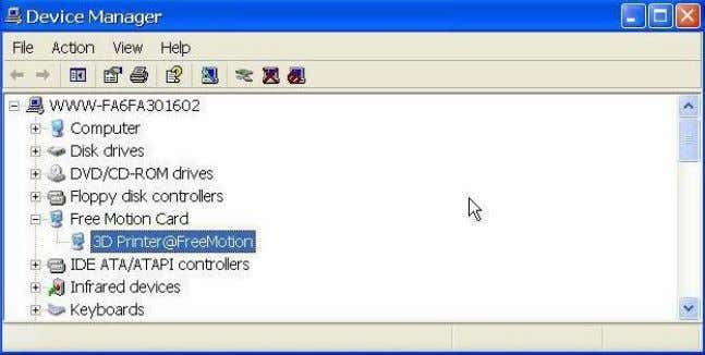 new driver section in the device manager as shown below: select driver folder (Default is C:\Program